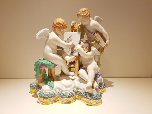 "Meissen Exclusiv-Kollektion ""Painting"" 19 cm limited edition."